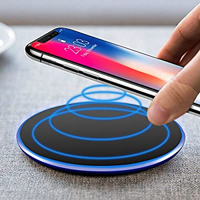 Cargador Inalámbrico,UBEGOOD Wireless Charger Qi Quick Charger ...