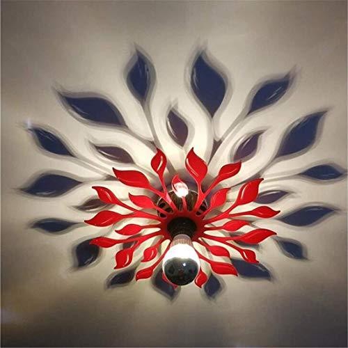 ChuanHan Ventilateur de Plafond Lumière Lustre Luminaires Applique Murale Sculpté Café Bar Chambre Chevet Salle de Bains Allée Lumières Décor Intérieur rouge Art Applique D28Cm Lustre éclairages