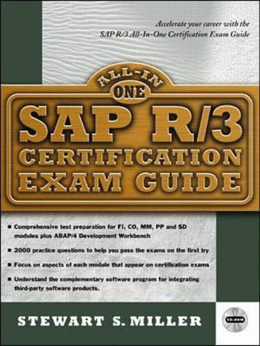 Sap R/3 Certification Exam Guide (All-in-one Certification) ()