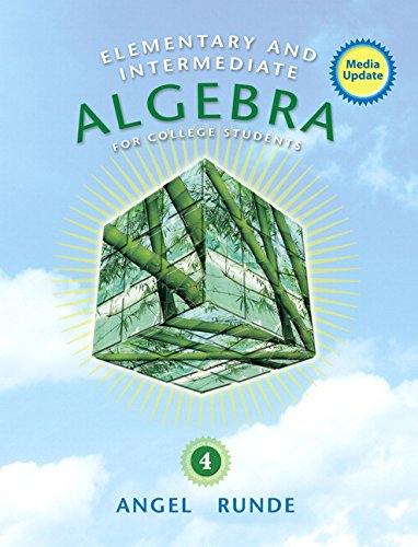 Elementary & Intermediate Algebra for College Students, Media Update (4th Edition)