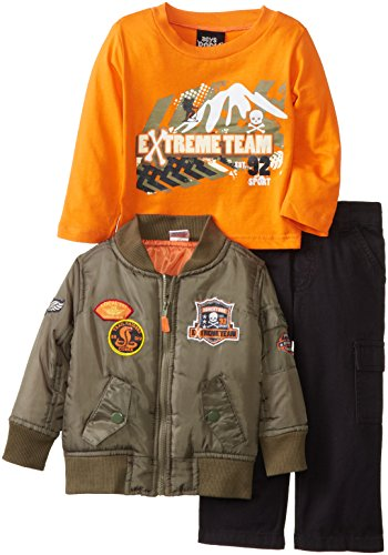 Boys Rock Baby-Boys Infant 3Piece Jacket Set Extreme Team, Green, 24 Months