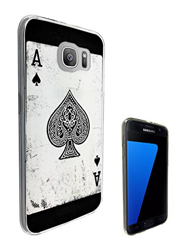 Samsung Blackjack Phone Covers (C0581 - Ace Of Spades Playing Cards Casino Poker Black Jack Design Samsung Galaxy S6 Edge+ Plus 5.7'' Fashion Trend CASE Gel Rubber Silicone All Edges Protection Case Cover)