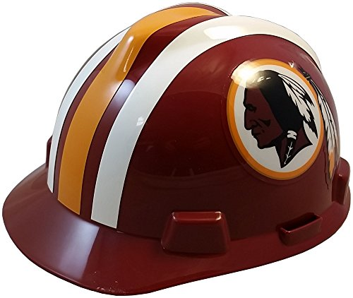 MSA NFL Ratchet Suspension Hardhats - Washington Redskins Hard Hats by MSA (Image #5)