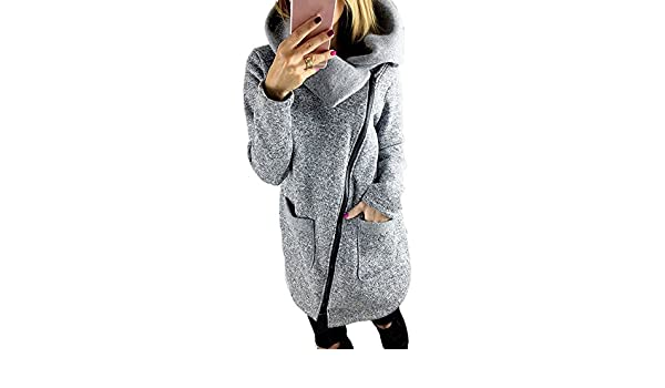 Amazon.com: South Weekend Women Coat, Fashion Womens Casual Hooded Jacket Coat Long Zipper Sweatshirt Outwear Tops 2018 (2XL, Gray): Garden & Outdoor