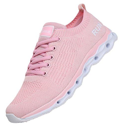 JARLIF Women's Lightweight Fashion Walking Sneakers Athletic Tennis Running Shoes US5.5-10 Pink