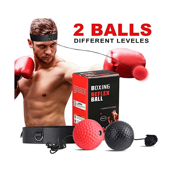 SPECOOL-Boxing-Reflex-Ball-MMA-Speed-Training-Ball-with-Adjustable-Headband-Boxing-Equipment-Punching-Ball-Perfect-for-AdultKids-Reaction-Speed-Hand-Eye-Coordination-Training-Fitness