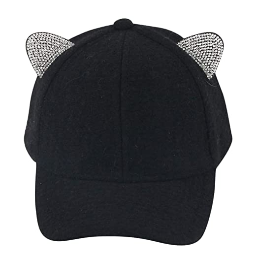 🧢Mother Me Baseball Cap Fashion Solid Casual Winter Warm Adjustable Cat  Ears Hat residentD (Black) at Amazon Women s Clothing store  ca5b0bfd95ed