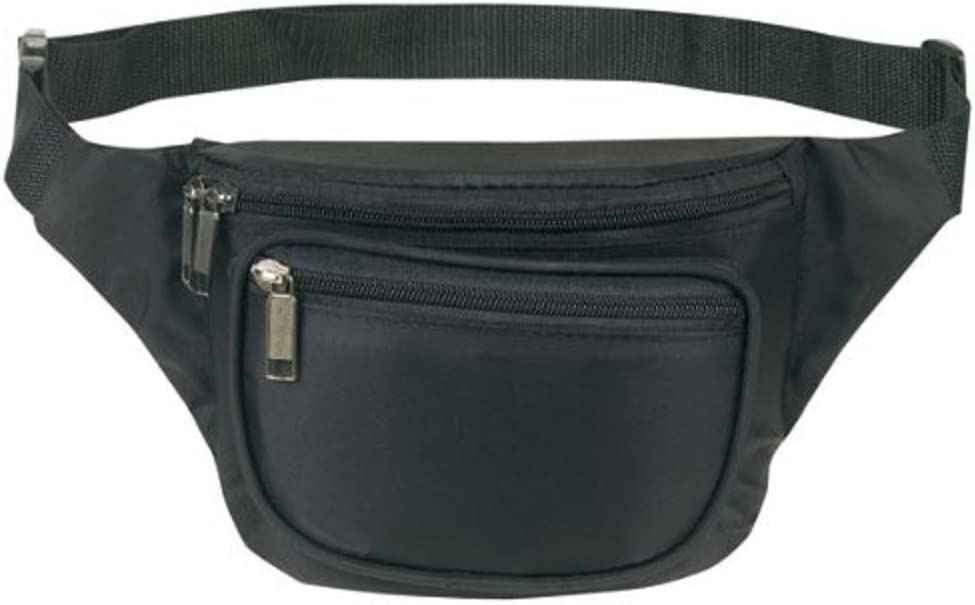 Cute  printed  cotton 3 zippers fanny-pack