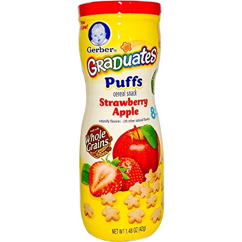 Gerber Graduates Puffs Strawberry Apple Cereal Snack (2 pack)
