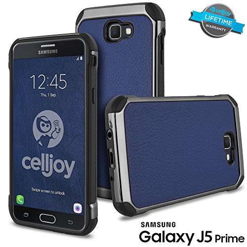 Shockproof Hybrid Case for Samsung Galaxy J5 (Black/Blue) - 3
