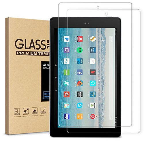 (All-New Fire HD 10 Screen Protector,Tempered Glass Screen Protector Film for All-New  HD 10 Tablet (7th 2017 Release))