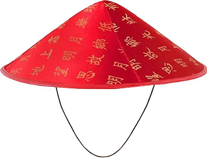 CHINESE COOLIE STRAW HAT FANCY DRESS COSTUME ACCESSORY ORIENTAL ASIAN UNISEX