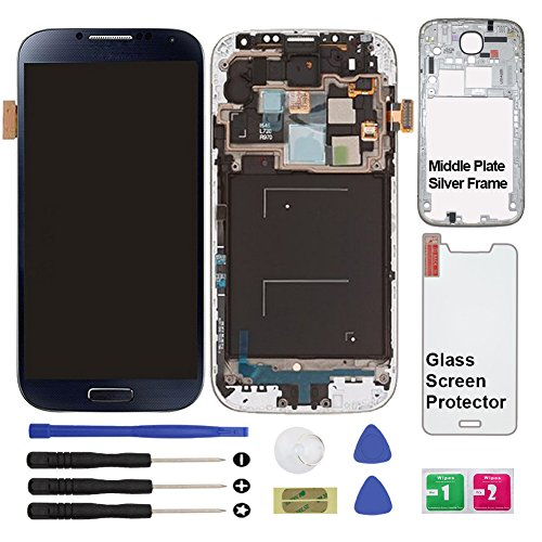 - Display Touch Screen (AMOLED) Digitizer Assembly with Frame for Samsung Galaxy S4 (SIV) SCH- I545 / SPH- L720 / SCH- R970 (for Mobile Phone Repair Part Replacement)(Repair Tool Kits) (Black Mist)