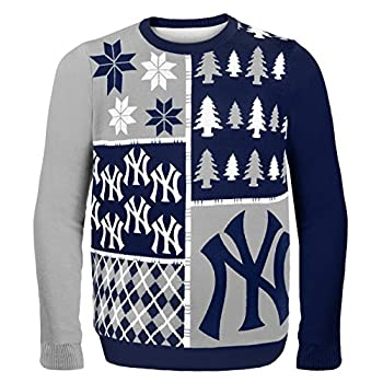 MLB New York Yankees Busy Block Ugly Sweater, Large, Blue