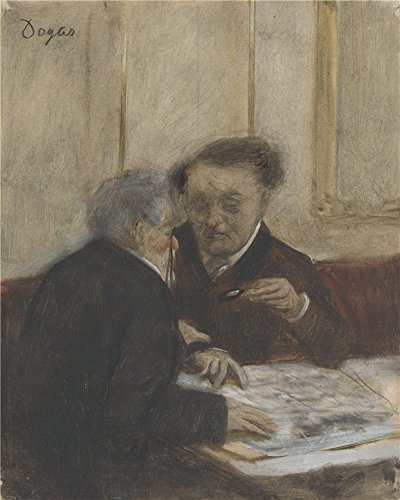 Perfect Effect Canvas ,the Replica Art DecorativePrints On Canvas Of Oil Painting 'Hilaire Germain Edgar Degas At The Caf Choteaudun ', 12 X 15 Inch / 30 X 38 Cm Is Best For Dining Room Decor And Home Decoration And Gifts