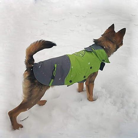 Liboom Ropa de Mascotas Abrigo de Perro Impermeable para Perros con Capucha y Collar Cazadora de Vestir de Invierno Caliente Abrigo Traje de al Aire ...
