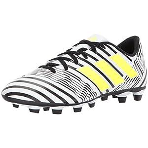 adidas Originals Men's Nemeziz 17.4 FxG Soccer Shoe, White/Solar Yellow/Black, 8.5 Medium US