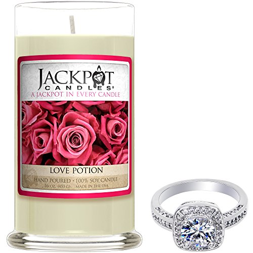 Love Potion Candle with Ring Inside (Surprise Jewelry Valued at 15 to 5,000) Surprise Ring Size