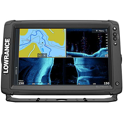 Lowrance 000-14662-001 Elite-12 Ti2 Fish Finder with Active Imaging 2-in-1 Transducer and Mid/High Skimmer