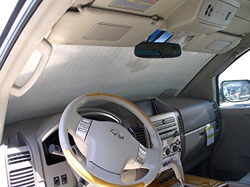 The Original Windshield Sun Shade, Custom-Fit for Infiniti QX56 SUV 2004, 2005, 2006, 2007, 2008, 2009, 2010, Silver Series
