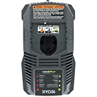 Ryobi P118 Lithium Ion Dual Chemistry Battery Charger for One+ 18 Volt Batteries (Battery Not Included / Charger Only) (Renewed)
