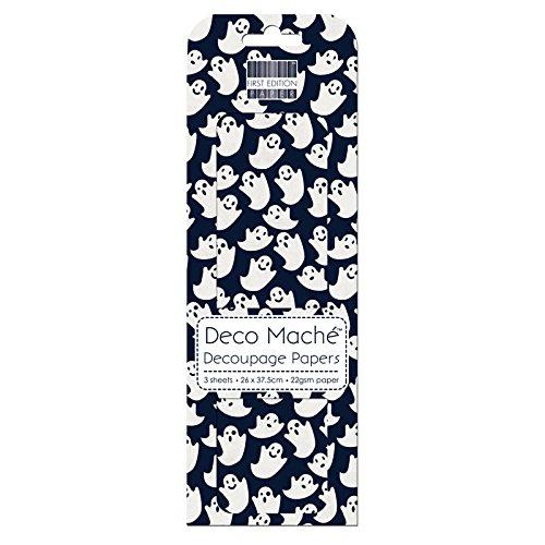 First Edition Deco Mache Papier pour découpage Motif fantômes d'Halloween Multicolore (Motif D'halloween)