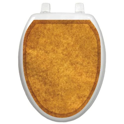 Toilet Tattoos TT-1115-O Caramel Sponge Decorative Applique for Toilet Lid, Elongated chic