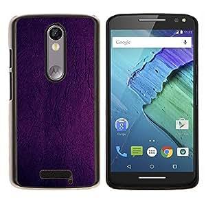 LECELL--Funda protectora / Cubierta / Piel For Motorola MOTO X3 3rd -- Pintura púrpura Diseño del papel pintado de pared en color --