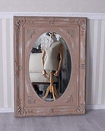 Spiegel Antik Weiss Wandspiegel Rokoko Dekospiegel Garderobenspiegel Barock