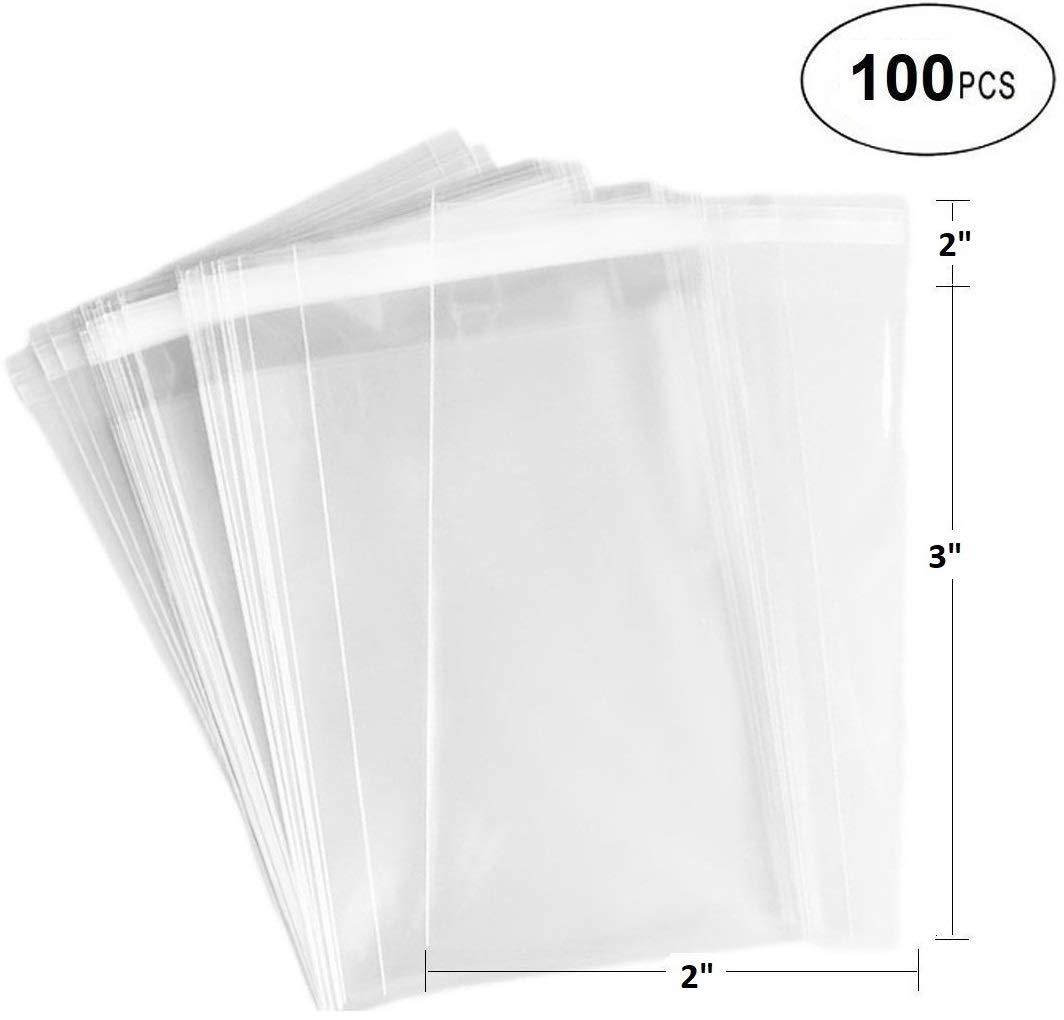 Amazon.com: 888 Bolsas protectoras transparentes con cierre ...