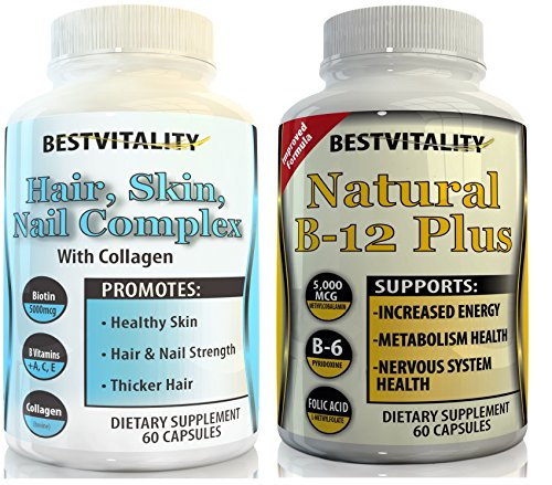 B21 Memory System - BestVitality Energy and Beauty Complex Bundle! 100% Natural Hair, Skin, Nails Vitamins And B Complex. Two of Our Best Selling Products for the Price of One - Made in USA-Free Guide