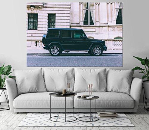 - Mercedes Benz SUV Vehicle Jeep Art Print Wall Decor Self-Adhesive - Wallpaper Sticker 48 x 72-3XL