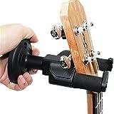Yamde Guitar Hanger Auto Lock Rack Hook Holder Wall Mount Bracket Home Studio Display Fits All Size Guitar, Acoustic, Bass, Mandolin, Banjo Easy Installation Compact plastic black