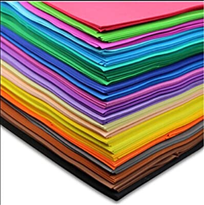 50cm x50cm Craft Foam Sheets Rainbow Colors Primary Assortment Scrapbooking Crafts Paper Eva Sponge Peel & Stick Diy Gift Card Thickness1mm 10pcs /Lot