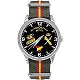 Reloj Tráfico G&B Correa Caucho Esfera Negra: Amazon.es: Relojes