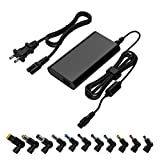 Universal Laptop Charger 90W 15-20V One for All - Slim AC Adapter Power Supply Cord with Dual USB Ports for Mobile/Tablet - Compatible with Lenovo HP Toshiba Samsung Acer Asus and Most Notebooks