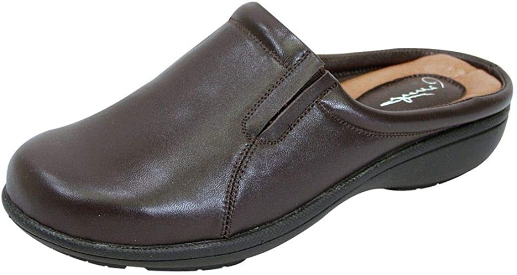 Peerage Mary Women Wide Width Comfort Leather Clogs