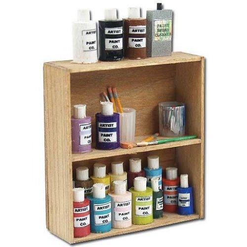 Dollhouse Miniature Art Supply Shelf