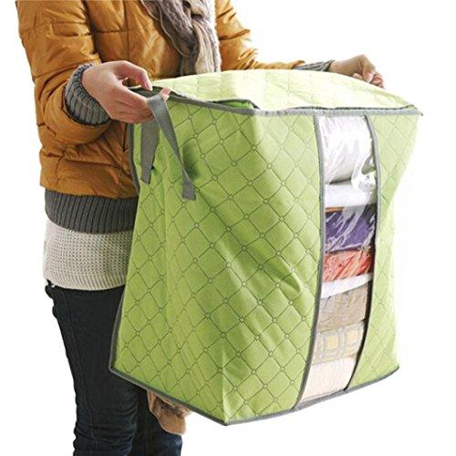 Premium Storage Box Green - Blanket Storage Baskets Foldable Storage Bag Collapsible Organizer Box, Store Toys, Laundry, Clothes, 18.9*11.9*19.7