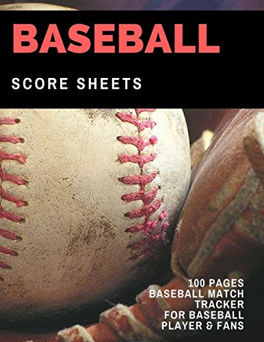 Rookie Card Print - Baseball Score Sheet: 100 Pages of Baseball Score Card for Baseball Players and Fans, Large Print
