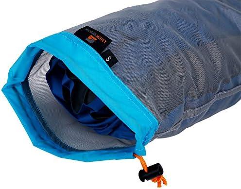 Alomejor Ultralight Mesh Kordelzug Sack Outdoor-Reisen Wandern Camping Stuff Aufbewahrungstasche