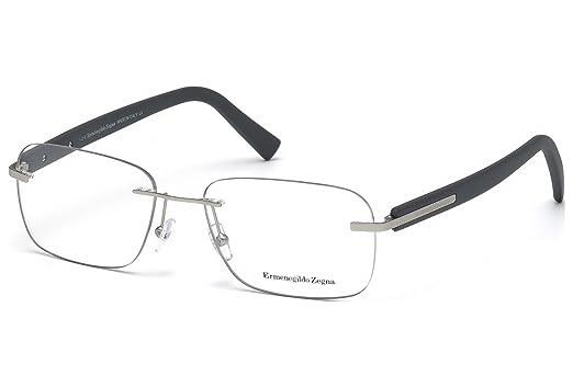 2fa773dfbce Ermenegildo Zegna EZ5003 - 017 Eyeglass Frame Matte Palladium w  Clear Demo  Lens 56mm