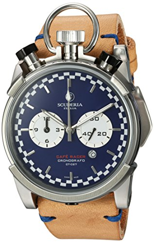 CT-Scuderia-Mens-Corsa-Caf-Racer-Swiss-Quartz-Stainless-Steel-and-Leather-Casual-Watch-ColorBeige-Model-CS20120