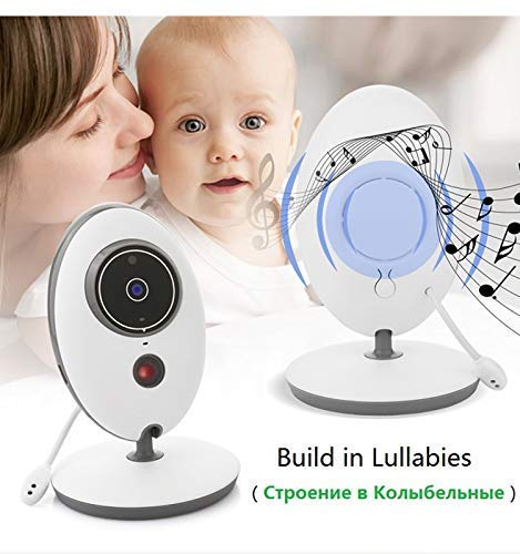 VB605 Wireless Night Vision Infant Baby Monitor Video LCD Monitor Camera Audio Temperature Display Radio Baby Nanny Monitor