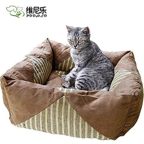 Aemember Pet Nest Tactic VIP Golden Retriever Cama para Perro Bichon Casa Gato Perro Suministros: Amazon.es: Productos para mascotas