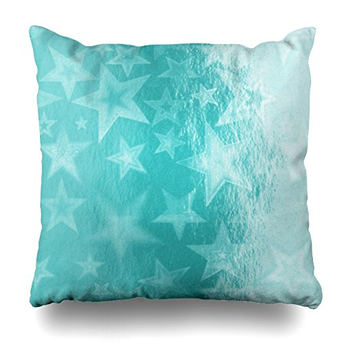 ONELZ Shiny Aqua Turquoise Square Decorative Throw Pillow Case, Fashion Style Zippered Cushion Pillow Cover (18X18 (Aqua Butterfly Kisses)