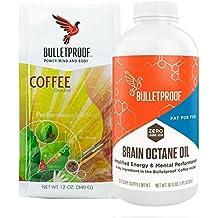 Bulletproof Intro Kit (Amazon Exclusive) 12oz Ground Coffee, 16oz Brain Octane