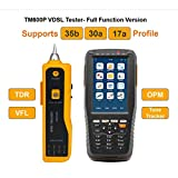 TM600P VDSL Tester Supports 35b 30a 17a Profile for ADSL, ADSL2, ADSL2+, READSL, VDSL2, PPPoE Dial, DMM Tests and Maintenances, Full Function Version with OPM/VFL/TDR/Tone Tracker