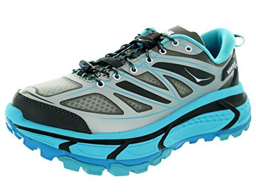 Hoka One One Mujeres W Mafate Zapatillas Para Correr A Velocidad Gris / Azul Atolón