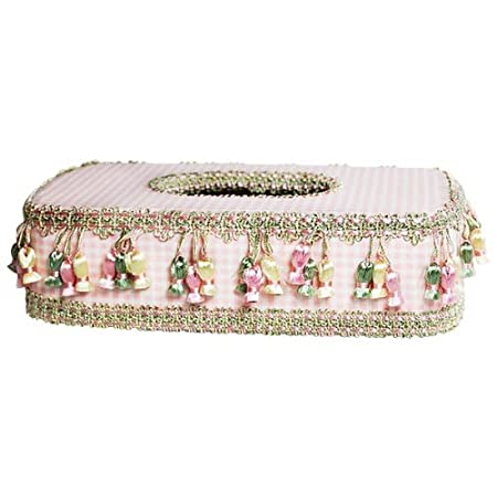 Decorative Tissue Box Cover (Baby Pink)